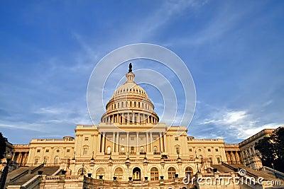 US Congress at Sunset