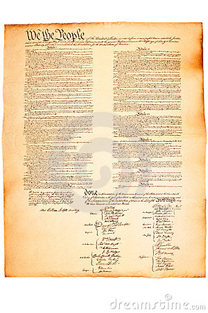 US Constitution on Parchment paper