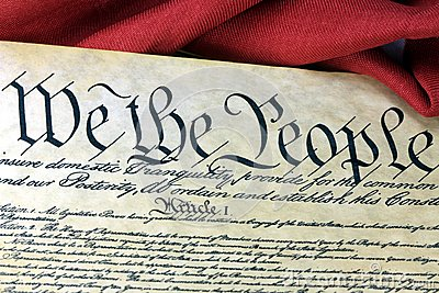 US Constitution - We The People With American Flag Royalty ... Leaves Clipart