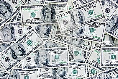 US Currency 100 Dollar Bills