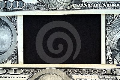 US Currency One Hundred Dollar Bill Frame.