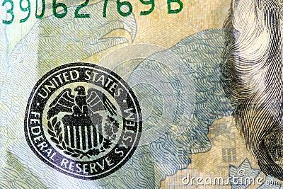 US Currency Twenty Dollar Bill.