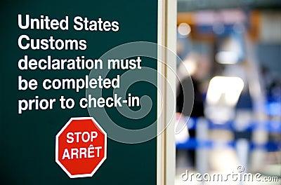 US Customs warning