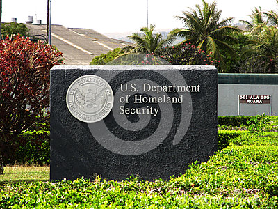 US Department of Homeland Security - Sign Editorial Stock Image