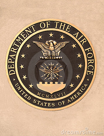 Us dept. of the air force plaque Editorial Stock Image