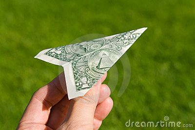 US Dollar Airplane
