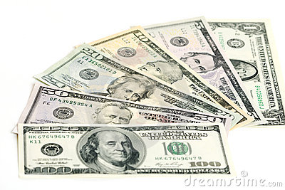 US Dollar banknotes