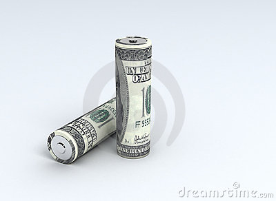 US Dollar on Batteries - energy cost