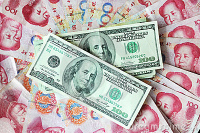 US dollar and Chinese yuan