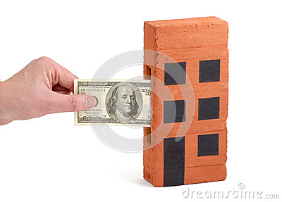 US Dollar deposit into a house-brick
