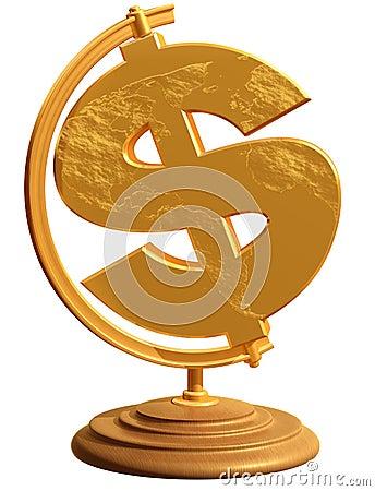 US Dollar Globe