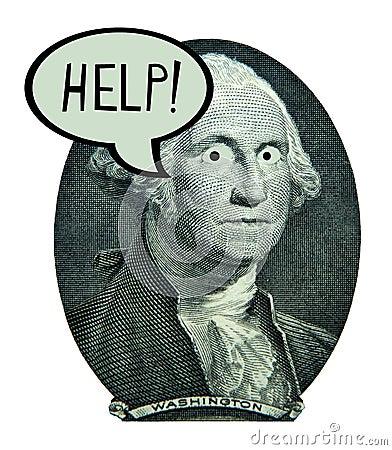 US Dollar Money Economy Jobs Banking Finance Debt Stock Photo