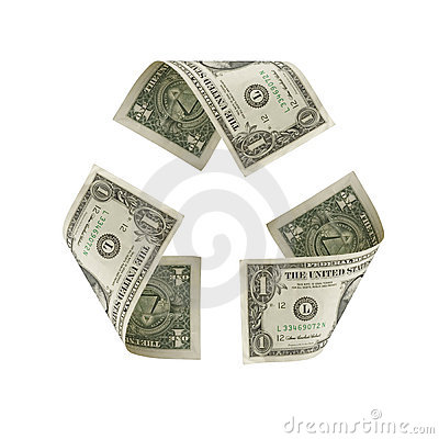 US Dollar Recycle Symbol