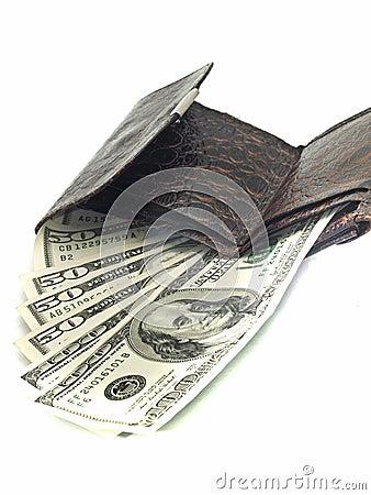 US dollars in purse