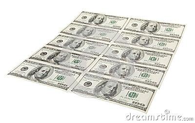 US-Dollars in rohem