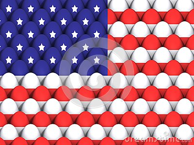 US Easter Egg Background
