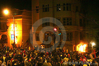 US embassy attack,Belgrade Serbia Editorial Stock Image