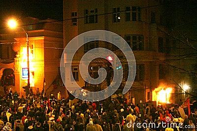 US embassy attack,Belgrade Serbia Editorial Stock Image
