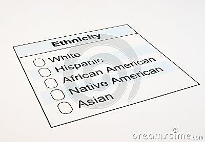 US Ethnicity Form