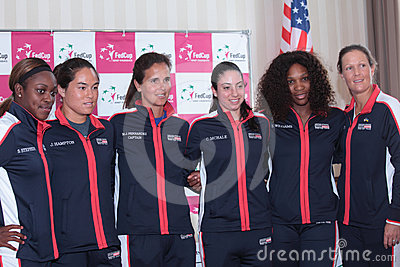 US Fed Cup team Editorial Photo