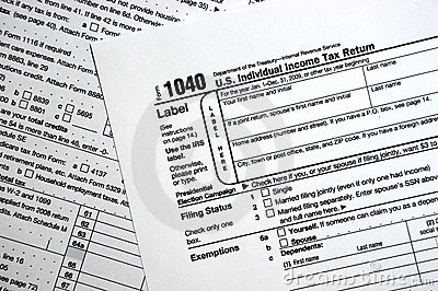 US Federal 1040 Tax Form, Plain Forms Concept Editorial Photography