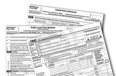 US Federal Income Tax Forms
