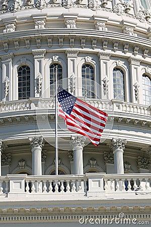 Free US Flag At Half-Mast Stock Photography - 4238582