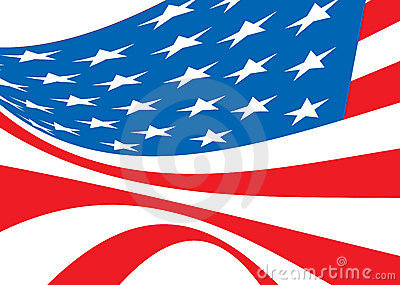 Us flag bellow
