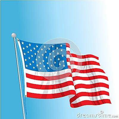 Free US Flag On Pole Stock Photography - 19465142