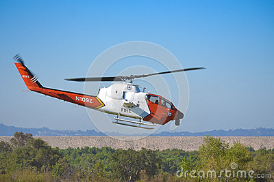 US Forest Service - AH-1 Cobra Bell 209 Editorial Stock Photo