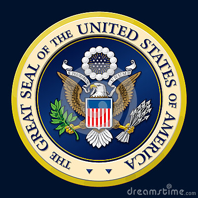 Free US Golden Presidential Seal. Stock Image - 77336981