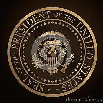 Free US Golden Presidential Seal Emboss Stock Photos - 39766493