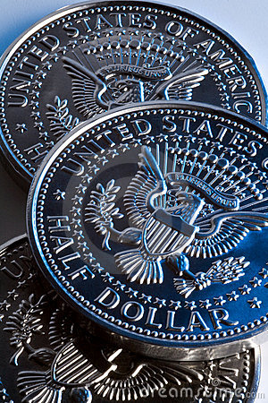 US Half Dollar coins