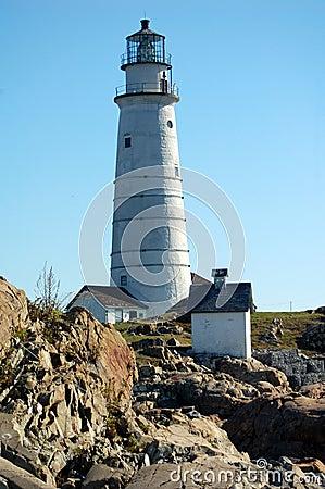 Eine staat küstenwache leuchtturm station aufgebaut auf einer