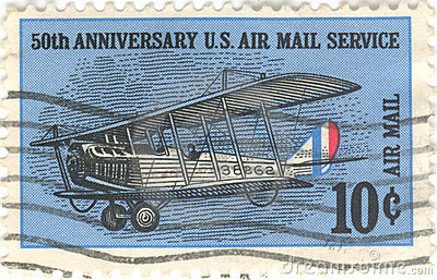 US-Luftpost-Service-Stempel