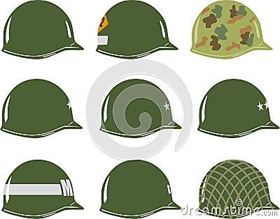 US M1 Army Helmets Of WW2 Royalty-Free Stock Photo | CartoonDealer
