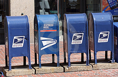 US Mail Boxes Editorial Image