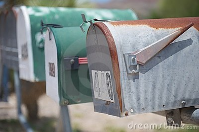US mail boxes, TX, US