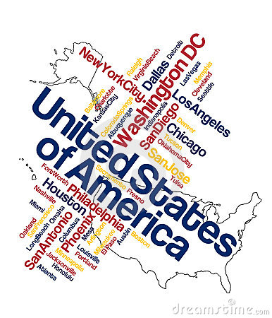 Free US Map And Cities Royalty Free Stock Photo - 15975435