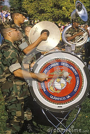 US Marines Marching Band Editorial Stock Image