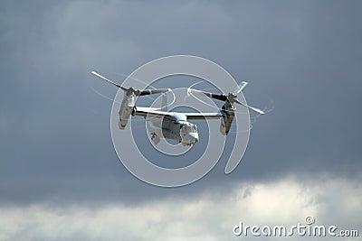 US Marines Osprey airplane Editorial Photo