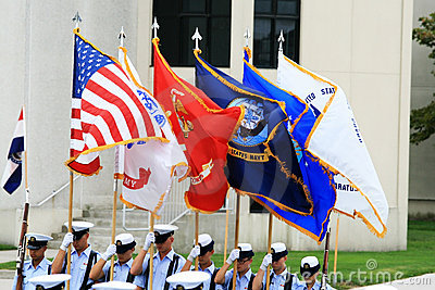 US Military Color Guard Editorial Stock Photo