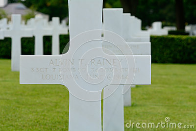 US Military graves at World War two cememtery