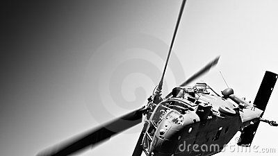 US military helicopter flyover