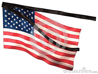 US Mourning Flag