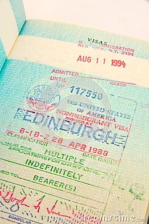US multiple entry visa.
