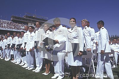US Naval Academy Graduation Editorial Image