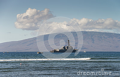 US Naval Ship Editorial Stock Image