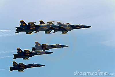 US Navy Blue Angels air show 10 July 2009 Editorial Image
