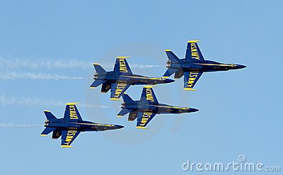 US Navy Demonstration Squadron Blue angels Editorial Stock Image